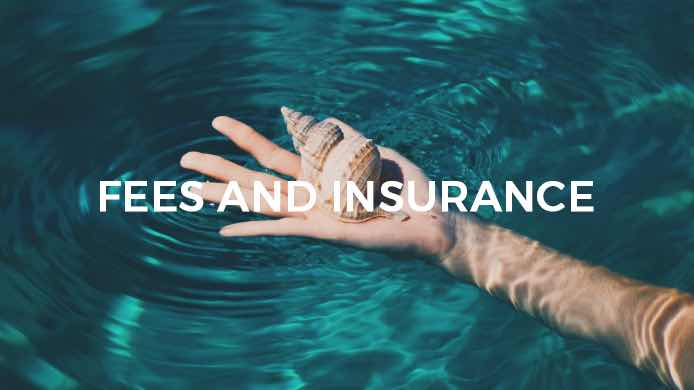 Fees and insurance, hand wrist arm